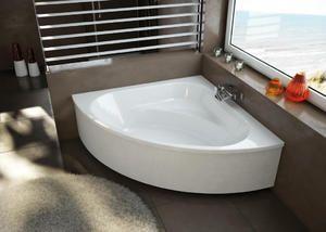 Симетрична кутова акрилова ванна