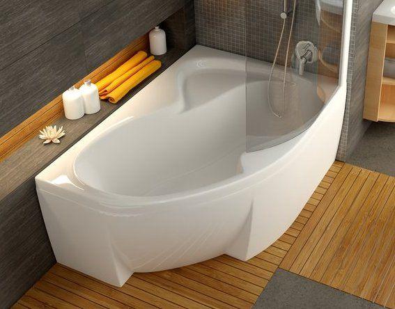 Асиметрична акрилова ванна після чистки